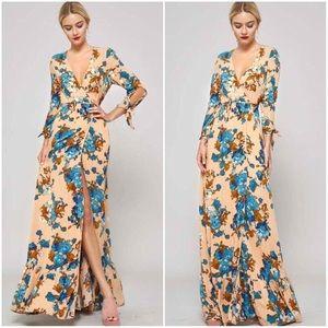 🆕2 LEFT Sophie Floral Wrap Maxi Dress